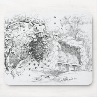 Vintage Bee Hives Mouse Pad