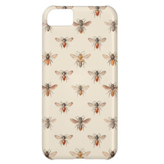 Vintage Bee Illustration Pattern iPhone 5C Cover