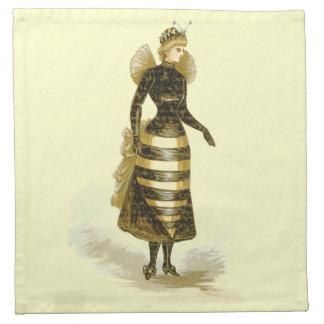 Vintage Bee Lady Printed Napkins