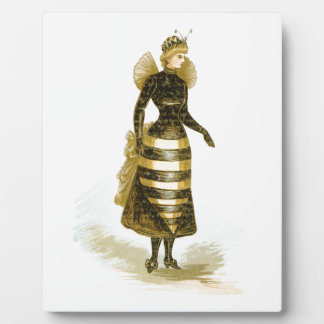 Vintage Bee Lady Photo Plaques