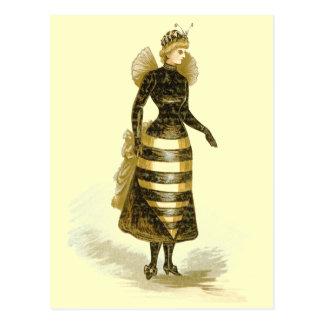 Vintage Bee Lady Postcard
