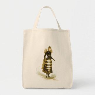 Vintage Bee Lady Tote Bag