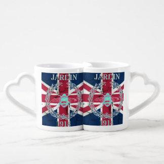 vintage bee london fashion union jack coffee mug set