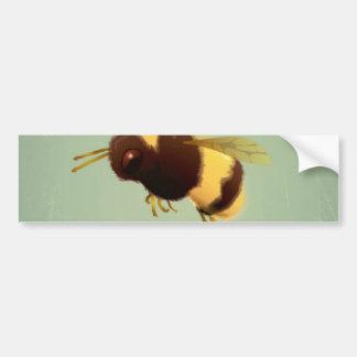 Vintage Bee On Green Background Pattern Bumper Sticker