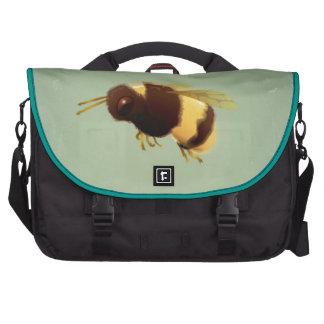 Vintage Bee On Green Background Pattern Computer Bag