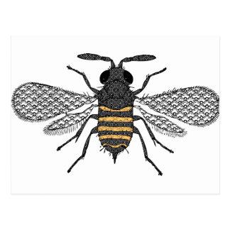 vintage bee postcard