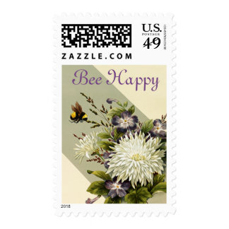 Vintage Bee Stamp - Sage