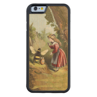 Vintage Bee Victorian Girl Honey Pot Forest Carved Maple iPhone 6 Bumper Case
