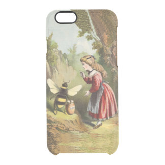Vintage Bee Victorian Girl Honey Pot Forest Clear iPhone 6/6S Case