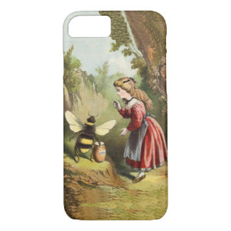 Vintage Bee Victorian Girl Honey Pot Forest iPhone 8/7 Case