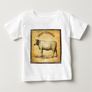 vintage beef chart with numbered cuts shirt