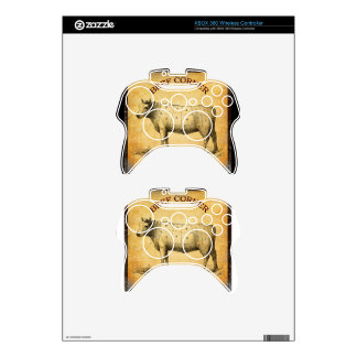 vintage beef chart with numbered cuts xbox 360 controller skin