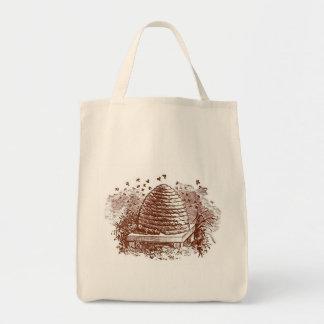 Vintage Beehive Beekeeping Tote Bag