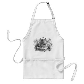 Vintage Beehive Honey Bees Beekeeping Adult Apron