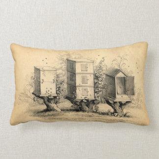 Vintage Beekeeping Beehives Beehive Pillow