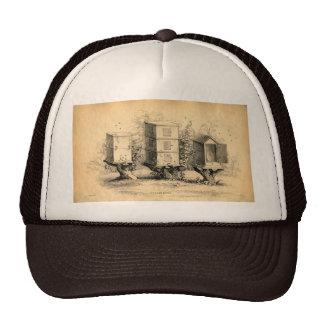 Vintage Beekeeping Beehives Beehive Trucker Hat