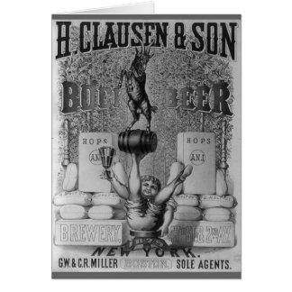 Vintage Beer Ad Card