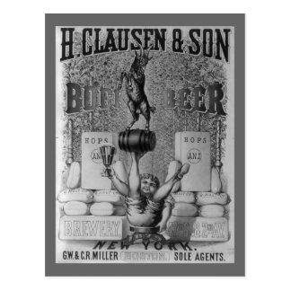 Vintage Beer Ad Post Card