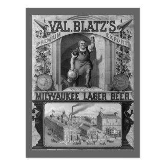 Vintage Beer Ad Postcard