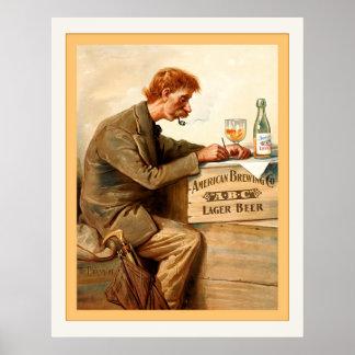 Vintage Beer Advertising Poster