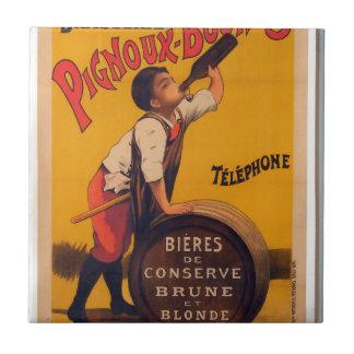 Vintage beer advertising poster Grande brasserie Tiles