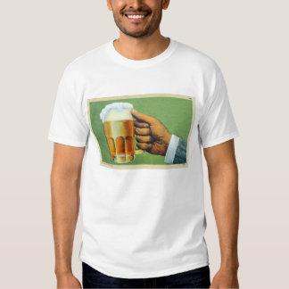Vintage Beer Bier Frosty Mug Postcard Tee Shirts