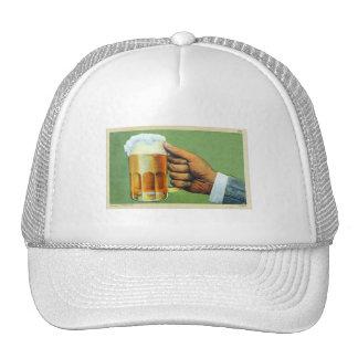 Vintage Beer Bier Frosty Mug Postcard Trucker Hat