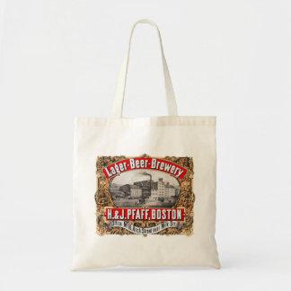Vintage Beer Brewery H&J Pfaff Lager Boston Tote Bag