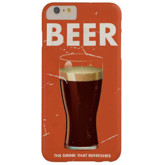 Vintage Beer Commercial poster. Barely There iPhone 6 Plus Case