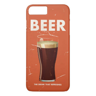 Vintage Beer Commercial poster. iPhone 8 Plus/7 Plus Case
