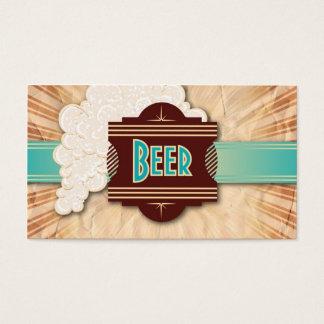 Vintage Beer Froth Plaque Bar Business Card