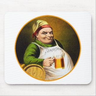 Vintage Beer German Beer Drinker Healthy Drink Mouse Pad