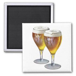 Vintage Beer Glasses Beer Drinker Healthy Drink Magnet