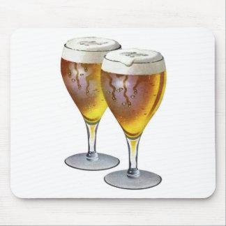Vintage Beer Glasses Beer Drinker Healthy Drink Mouse Pad
