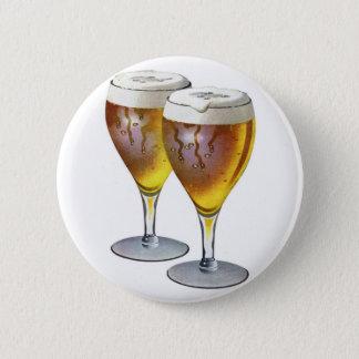 Vintage Beer Glasses Beer Drinker Healthy Drink Pinback Button