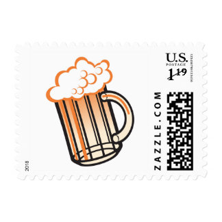 Vintage Beer Mug Stamp