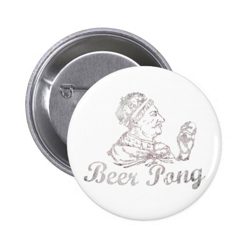 Vintage Beer Pong King 2 Inch Round Button