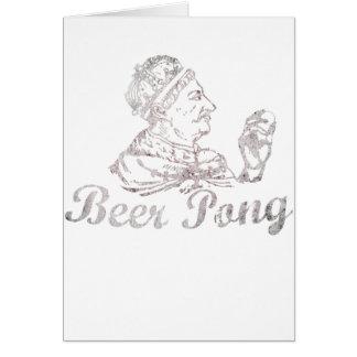 Vintage Beer Pong King Card