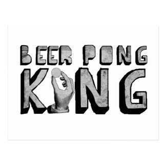 Vintage Beer Pong King Postcard