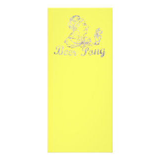 Vintage Beer Pong King Rack Card
