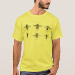Vintage Bees Bee Honey Scientific Illustration T-Shirt
