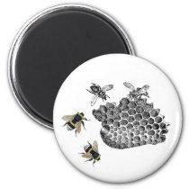 Vintage Bees Magnet