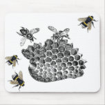 Vintage Bees Mouse Pad