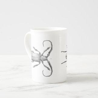 Vintage beetle illustration mug