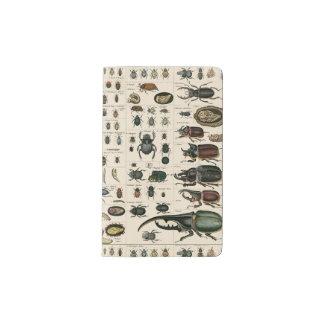 Vintage Beetle Illustration Pocket Moleskine Notebook