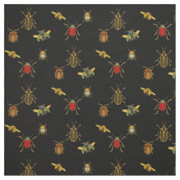 Vintage Beetles Fabric
