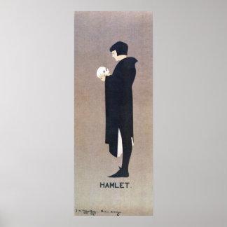 Vintage Beggarstaffs Hamlet vertical banner Poster