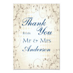 Vintage Beige Floral Thank You Card