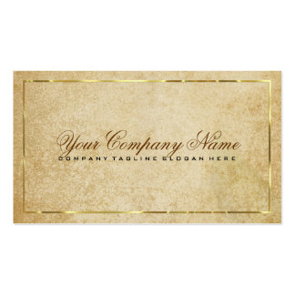 Vintage Beige Paper Background Gold Accents Double-Sided Standard Business Cards (Pack Of 100)