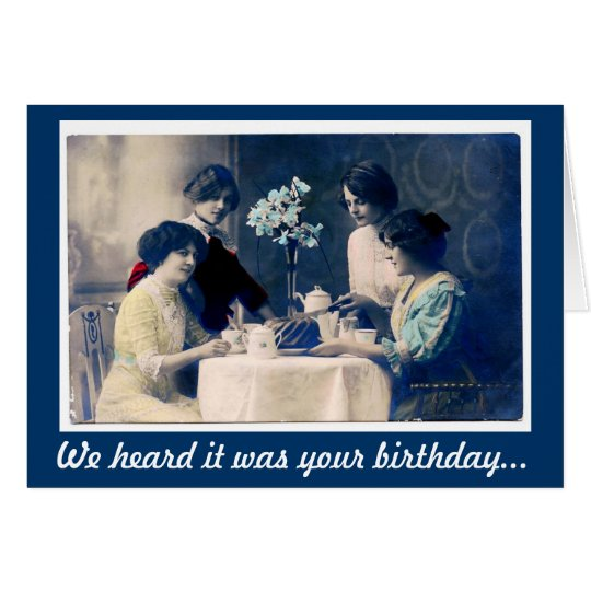 Vintage Belated Birthday, Chocolate Distraction Card